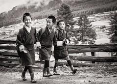 Walking to School (Trent's Pics) Tags: school boys students kids children bhutan lifestyle trongsa walkingtoschool pelala