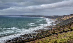 Blustery day in Whitsand Bay, Cornwall (Baz Richardson) Tags: coast cornwall cliffs whitsandbay stormyseas