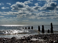 Noon by the Sea (sunset1uk) Tags: sea england beach clouds westsussex britain groyne englishchannel autofocus southwick southwickbeach simplysuperb