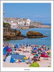 Holidaymakers at St. Ives (flatfoot471) Tags: summer england holiday beach landscape coast cornwall unitedkingdom normal stives 2015
