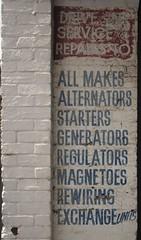 Ballarat VIC (phunnyfotos) Tags: old sign nikon garage australia victoria faded generators font d750 vic lettering mechanic starters ballarat paintedsign alternators regulators rewiring driveinservice phunnyfotos nikond750 magnetoes exchangeunits repairstoallmakes maxrobertselectrical