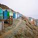 Beach huts. Milford on Sea, Hampshire, UK