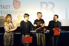 Die Internationale Jury vergibt den Kurzfilmpreis des Bayerischen Rundfunks an Joern Threlfall für OVER