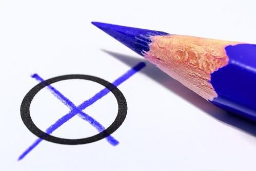 Wahlkreuz blau