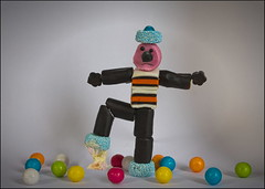 Ugh, I hate chewing gum (Curl66) Tags: stilllife food man mannequin canon gum fun creativity photography scotland funny sweet creative sweets chewinggum liquorice moray