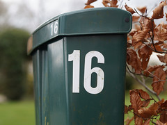 Week 16 (d_t_vos) Tags: brown abstract green texture sign mailbox calendar symbol outdoor character text lawn number postbox week shield 16 letterbox weeks leafs address sixteen drenthe housenumber pobox 2016 streetnumber bruntinge dickvos weeknumber dtvos numericcharacter weeknumberproject