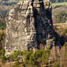 The Summit to climb in the Elbsandstein, Falkenstein, Elbsandstein, Sachsen, Germany