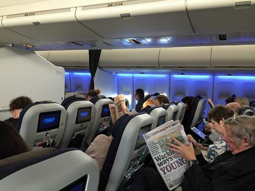 British Airways premium economy on transatlantic Boeing 747.