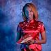 DSC_0271 Somali Lady Portrait Red Chinese Silk Mandarin Dress  Shoreditch Studio London