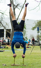 Austin Slackline Festival (grexsysllc) Tags: people yoga austin nikon outdoor festivals austintexas strength handstand recreation workout fitness core slackline peoplewatching outdoorsports nikonphotography nikond7100 festivalsinaustin 365austin