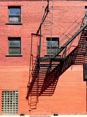 Untitled-115 (Chris Protopapas) Tags: newyorkcity shadow brick wall manhattan fireescape