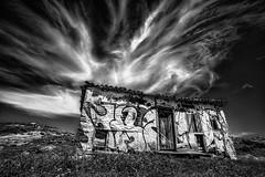 Spirit House (Lost Light) Tags: sky abandoned rural graffiti rustic ruin greece halkidiki