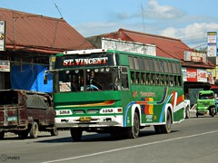 St. Vincent (Monkey D. Luffy 2) Tags: road city bus public del photography photo coach nikon philippines transport vehicles transportation coolpix vehicle society davao coaches norte philippine isuzu enthusiasts tagum philbes