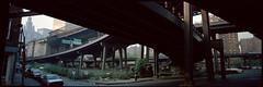South St. & Dover St. NY (tonywright617) Tags: ny 120 fuji manhattan panoramic brooklynbridge analogue fujica medformat southst g617