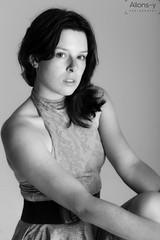 Heather Monochrome (Daniel Hall - AUS) Tags: bw girl monochrome beauty face look model australia canberra 2016 instense
