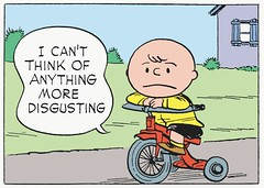 I can't think of anything more disgusting (Tom Simpson) Tags: illustration vintage comics tricycle peanuts 1950s disgusting charliebrown charlesschulz 1952 charlesmschulz
