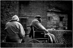 Crepuscolo | Twilight (Roberto Spagnoli) Tags: blackandwhite twilight dusk wheelchair streetphotography photojournalism oldage disease biancoenero crepuscolo vecchiaia malattia carrozzella fotogiornalismo fotografiadistrada