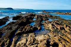 View north (jack eastlake) Tags: park new seascape coast rocks south national pools tathra geology mimosa far rockpools