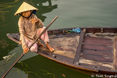 An Old Rower (Tomagination) Tags: travel woman river photography boat vietnam
