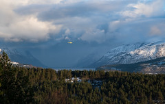 Agustinawestland 139, LN-OLS (glennkphotos) Tags: sunset snow mountains alps nature norway clouds amazing outdoor aviation fave helicopter fjord winterwonderland naturelovers aw139 aviationlovers