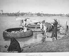 Transport in Iraq (Terterian - A million+ views, thanks.) Tags: fruit vintage photography book photos brothers transport photographic views baghdad times plates collectible rare abdul 1925 studies kerim basra irag basrah coracle washerwoman bygone hasso cemera