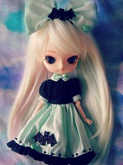 Happy B-day Yulia!  (Pliash) Tags: cute clouds dark hair toy japanese doll pastel ghost goth dal blond kawaii frara rewigged tumblr furara