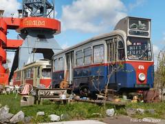 NIET ZEUREN 24-4-16 (kees.stoof) Tags: amsterdam tram noord kraan hijskraan amsterdamnoord scheepswerf ndsmterrein trammetjes