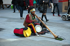 Busker (slaup) Tags: street travel musician holiday native drum australia adelaide colourful busker southaustralia aboriginee didgeredoo