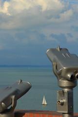 Balatoni vitorls - Sailboat at lake Balaton (bencze82) Tags: summer lake clouds sailboat hungary outlook 90mm balaton voigtlnder t magyarorszg tihany f35 felhk nyr balatoni kilts haj apolanthar vitorls slii