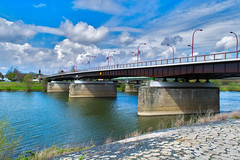 Bridge (Zinaida Belaniuk / Limburg, Nederland) Tags: bridge netherlands clouds nederland wolken venlo maas limburg