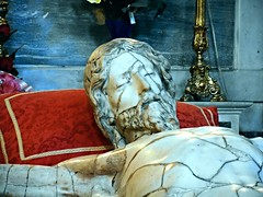 """""""Crucified Christ"""" - marble sculpture (1599; detail) by Michelangelo Naccherino (Florence 1550-Naples 1622), damaged on 1923 because of fire - San Carlo all'Arena Church in Naples (* Karl *) Tags: italy christ jesus naples michelangelonaccherino"""
