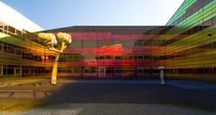 _DSC2232 (durr-architect) Tags: light sun colour reflection netherlands glass architecture modern facade offices almere dfense berkel unstudio