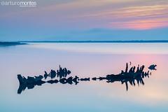 Old And Sunk (arturomontes) Tags: longexposure sunrise landscape boat fuji paisaje amanecer nd cadiz sunk largaexposicin puertodesantamaria xt1