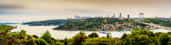 DSC06470-Pano (Orhan Kl) Tags: city bridge sea turkey boat pano istanbul panoramic bosphorus otatepe sonysel35mmf18 sonya6000