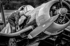 Final Check (aquanout) Tags: people plane airplane aircraft aviation aeroplane