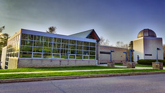 Science Building and Observatory, 2016.04.24 (Aaron Glenn Campbell) Tags: building architecture rural reflections campus evening spring pennsylvania sony country sigma lehman hdr nepa luzernecounty backmountain mirrorless a6000 psuwb a6k pennstatewilkesbarre emount macphun 19mmf28exdn sonyalpha6000 ilce6000 3ev aurorahdrpro