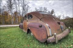 1940 DeSoto S-7 4-Door Touring Sedan - Door County, Wisconsin (helikesto-rec) Tags: abandoned car wisconsin sedan automobile 1940 desoto doorcounty