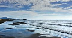 Lonely fisherman in very inspiring environment (VillaRhapsody) Tags: beach sea mediterranean karadere patara reflections water tide clouds weather autumn gorgeous beautiful landscape seascape scenery challengeyouwinner