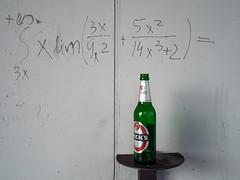 Higher mathematics (Ulrich Neitzel) Tags: beer wall bottle wand formula mathematics bier graffito calculus becks flasche formel mzuiko17mm olympusem5
