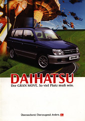 Daihatsu Gran Move - So viel Platz mu sein. 1999 (World Travel Library) Tags: world auto travel cars car japan by ads japanese drive photo model automobile ride image photos library go wheels transport models picture automotive center move 1999 literature photograph papers vehicle gran motor makes collectible collectors sales brochures catalogue  automobiles documents fahrzeug daihatsu frontcover motoring wagen automobil  prospekt dokument katalog worldcars worldtravellib