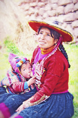 Lunch Break (Artypixall) Tags: portrait woman baby texture peru breastfeeding nursing pisac faa traditionalcostumes