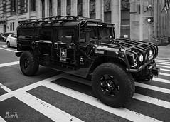 War Ready (ryanlandell) Tags: city nyc urban blackandwhite black blur brick army star war wheels shades fujifilm crosswalk hummer 16mm rlx xt1 myfujifilm xf16mmf14 rlxpress