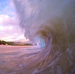 just a small wave (bluewavechris) Tags: ocean sea beach water hawaii surf tube barrel wave maui spray foam lip curl swell makena bigbeach oneloa