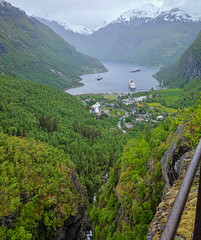 The View From Above Geiranger, Norway (Curtis Lannom) Tags: cruise norway europe magic disney dcl geiranger mreogromsdal