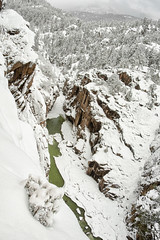 Looking Down Animas Gorge (maryannenelson) Tags: winter snow river outdoor cliffs gorge durango