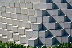 Cubes Sculpture (mikemirandi) Tags: sculpture white art modern garden dc geometry bricks cubes sculpturegarden voxels