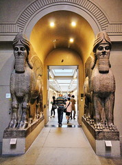 Human Headed Winged Lions (Albert Jafar) Tags: england people london museum arch hallway holborn britishmuseum passage assyrian patrons ngs ashurnasirpal artgalleryandmuseums photographerswharf museumandgallery humanheadedwingedlions