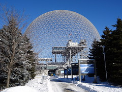 Biosphere in Parc Jean-Drapeau, Montreal (chibeba) Tags: city winter vacation urban holiday canada montral quebec montreal january northamerica qc 2016 citybreak