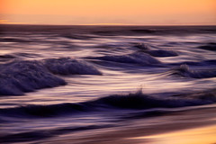 Coming-Around-Again (michaelwr) Tags: ocean sunset sky motion blur beach water sand waves handheld intentionalcameramovement