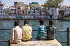 Once upon a time in Udaipur | Rajasthan | India (Hadi Zaher) Tags: street travel india lake boys graffiti time north gang bank once rajasthan upon udaipur rajastan